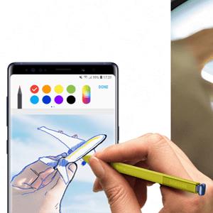 Le Samsung Galaxy Note 9 et le stylet S Pen