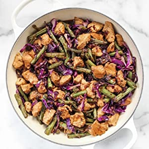 Easy chicken green bean stir-fry