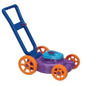 playset, fingir jogo, paisagismo, empurrar cortador de grama, mini, miniatura, trator de cuidado do gramado cortacesped