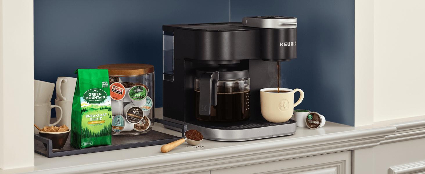 k-duo, keurig k-duo coffee maker, coffeemaker, coffee machine, brewer, carafe brewer, ground coffee