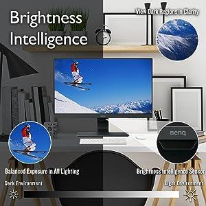 BenQ, BenQ monitor, eye care, brightness intelligence, CVS, eye strain, eye fatigue, 27 inch monitor