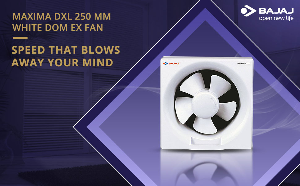 Bajaj Maxima DX 250 mm Exhaust Fan (White) SPN FOR 1