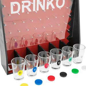Shot Glass Roulette - Juego de beber (2 bolas y 16 vasos)