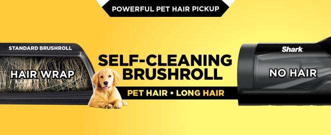 pet hair vacuum, pet vacuum, pet vacuum cleaner, pet hair vacuum cleaner, self cleaning brushroll