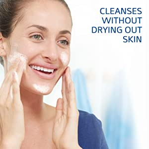 Cleanses without drying out skin