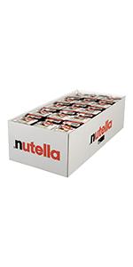 nutella, portion, snack, lunch, lunchbox, breakfast
