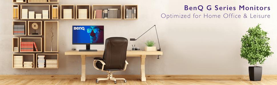 BenQ, BenQ monitors, home office monitor, office monitor, eye care monitor, sleek monitor, IPS