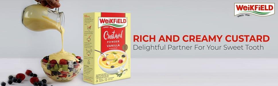 Weikfield Custard Powder, Vanilla 100gm
