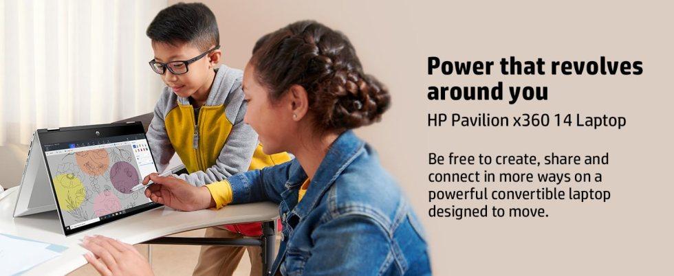 HP Pavilion x360 Touchscreen 2-in-1 FHD 14-inch Laptop 14-inch Laptop (10th Gen Core i5-10210U/8GB/512GB SSD/Win 10/MS Office/Mineral Silver/1.58 kg)