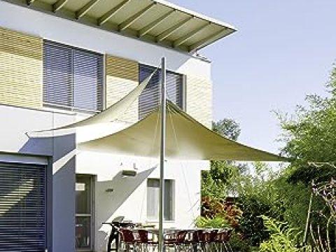 sonnensegel über eck celinasun sonnensegel, sonnenschutz garten balkon und terrasse  wetterbeständig hdpe atmungsaktiv schattenspender  dreieck , x ,  x , m