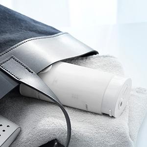 Panasonic kablosuz diş suyu Flosser, Çift Hızlı Darbeli Oral Irrigator, kompakt Seyahat EW-DJ10-w