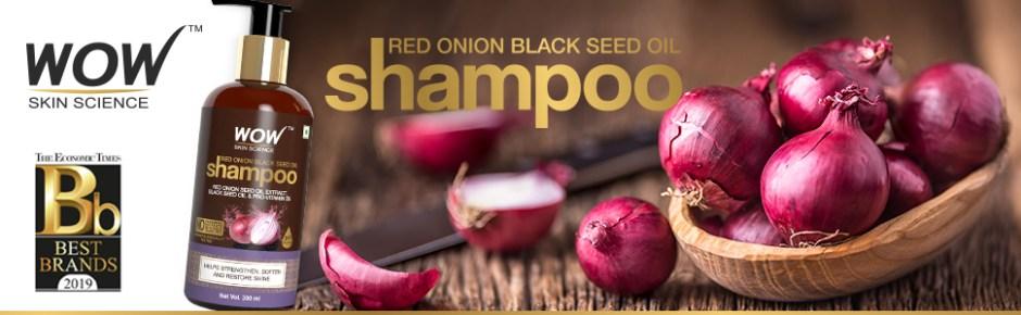 WOW Skin Science Red Onion Black Seed Oil Shampoo - 300 ml