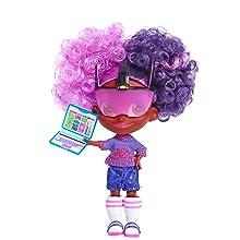 cabeleiráveis, youtube show, boneca colecionável, kali, cabelo roxo, cabelo rosa, codificação, techonology