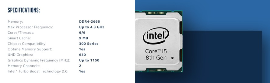 8th gen Intel Core i5-8600K processor BX80684I58600K