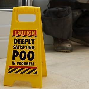 satisfying poo warning bathroom funny poop toilet humour sign for husband dad secret santa