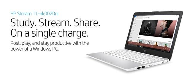 hp stream laptop notebook pc computer 11-ak0020nr windows diamond white silver