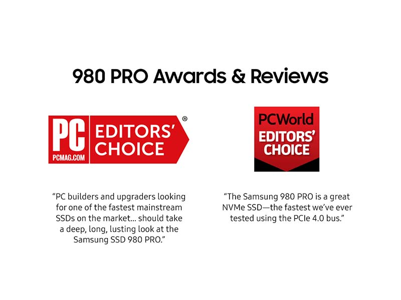 980 PRO Awards and Reviews