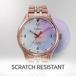 Scratch resistant glass