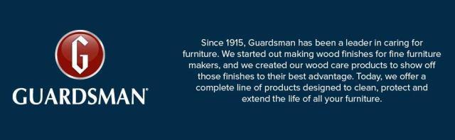 Guardsman furniture care since 1915