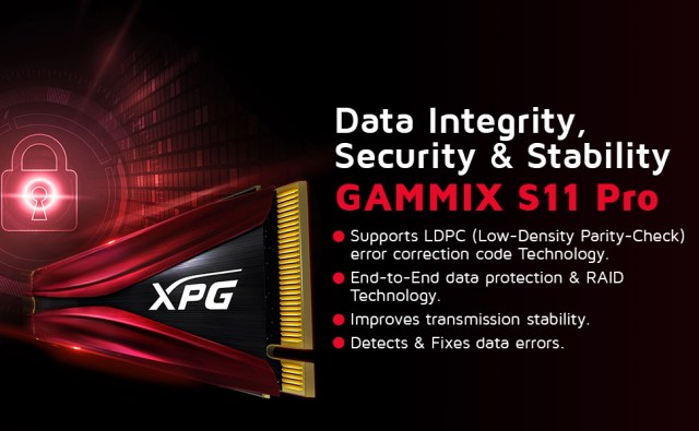 A-DATA XPG GAMMIX S11 Pro 256GB PCIe SPN-FOR1