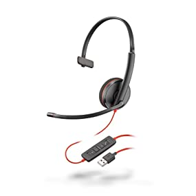 Blackwire 3200 Mono Corded UC Headset With USB Connectivity