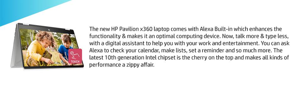 Laptops with Alexa HP Pavilion X360 i5 Laptop
