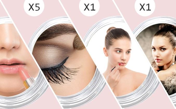 LikTCmA5Q1m5. UX970 TTW   - Organisateur à Maquillage Avec Miroir Grossissant 5x
