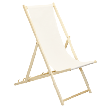 Traditional Adjustable Folding Wooden Deck Chair from Harbour Housewares