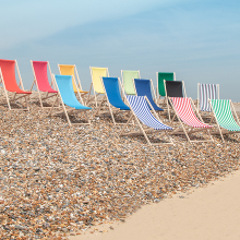 The range of Traditional Adjustable Wooden Beach Deck Chairs from Harbour Housewares