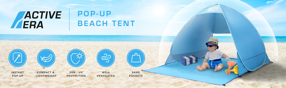 Pop up Beach Tent Shelter UV Protection