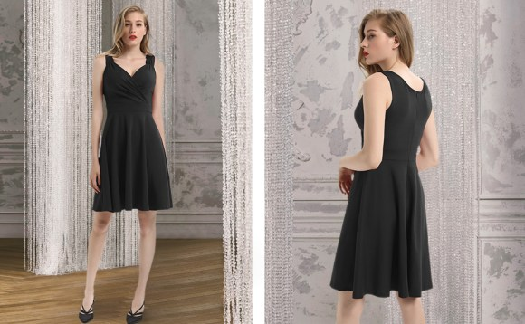 women 50s 60s dress vintage fancy party cocktail dress a-line knee length prom dress