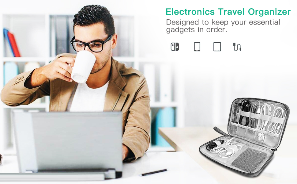 electronics makeup travel accessory bag case