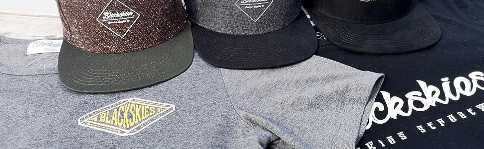 Blackskies Caps T-Shirt Longshirt Herren Streetwear Brand Snapback Headwear