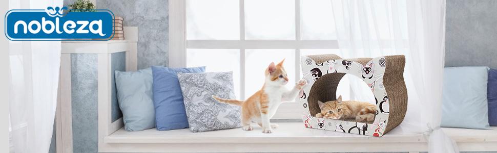 Rascador de cartón corrugado para gatos