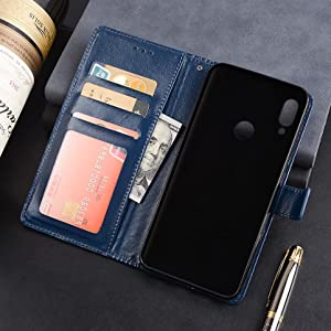 9afce7a2 2452 4bf0 b448 e987039acebe. CR0,0,1673,1673 PT0 SX300   - WOW Imagine Galaxy M21 / M30s Flip Case | Leather Finish | Inside TPU with Card Pockets & Stand | Magnetic Closure | Shock Proof Wallet Flip Cover for Samsung Galaxy M30s / M21 - Blue
