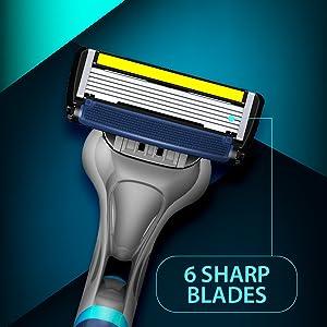 letsshave pace 6 pro razor men shaving kit