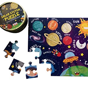 solar system puzzle colouring activity