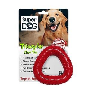 Super Dog Rubber Triangular Chew Toy