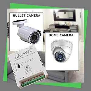 Compatible with CCTV Bullet and Dome Cameras