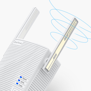 BrosTrend dual band wifi extender with 2 X external high gain wifi antennas for better wifi coverage