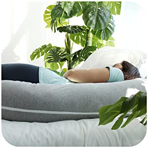 Pregnancy pillow body maternity baby support feed sleep health posture position comfort spine back