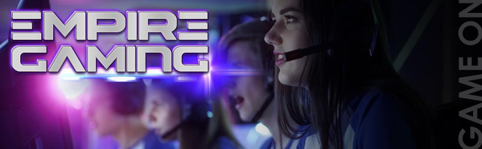 warmachine empire gaming Case PC Gaming LED RGB Dual Ring
