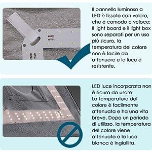 Pannello luminoso a LED separato