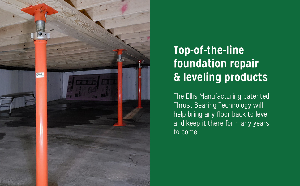 Ellis Manufacturing, top-of-the-line foundation repair & leveling products
