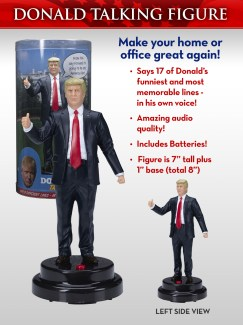 Amazon.com: Donald Trump Talking Figure, Says 17 Different Audio Lines In  President Trump's Own Voice: Toys & Games