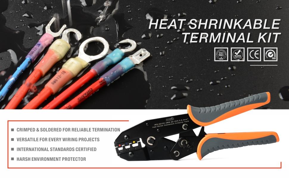 herramienta terminal termocontraíble