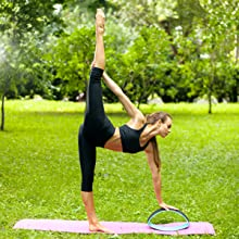 yoga wheel dharma pose prop roller eco block pro backbends stretching tool back pain bends stretch