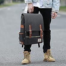 backpack vintage backpack picnic backpack hiking daypack laptop canvas backpack rucksack