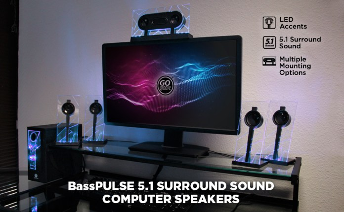 basspulse gogroove 5.1 computer speakers surround sound system
