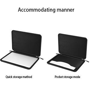black durable business travel laptop sleeve